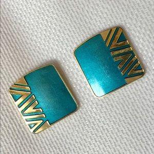 Vintage Laurel Burch Earrings - signed